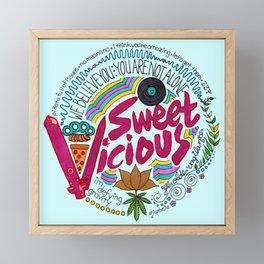 Sweet/Vicious Framed Mini Art Print