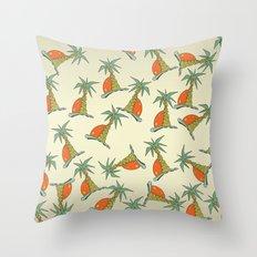 summer palm Throw Pillow
