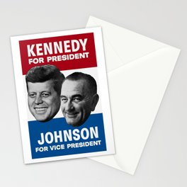 Kennedy And Johnson 1960 Election Stationery Cards
