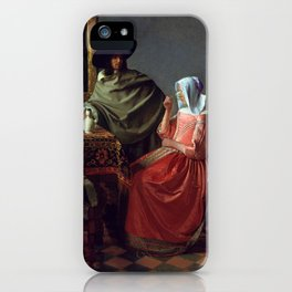 "Johannes Vermeer ""A Lady Drinking and a Gentleman"" iPhone Case"