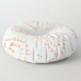 mint & coral tribal pattern Floor Pillow