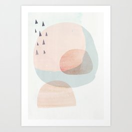 03 a3 society6 peach higher res Art Print
