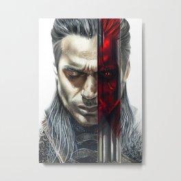 The Witcher Geralt of Rivia Metal Print