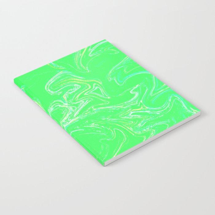 Neon Green Abstract Notebook By Seekforkeeps