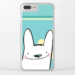 Happy Rabbit Clear iPhone Case