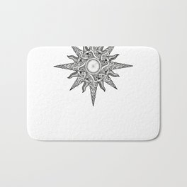 Surf in a Windrose – Compass (tattoo style) Bath Mat