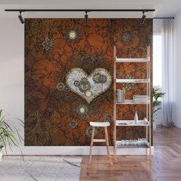 Steampunk, wonderful heart Wall Mural