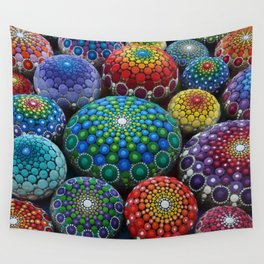 Jewel Drop Mandala Stone Collection #1 Wall Tapestry