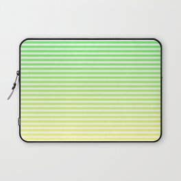Beach Blanket - Green/Yellow Stripes Laptop Sleeve