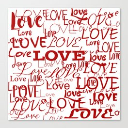 Love, love, love! Canvas Print