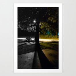 Split Night Art Print
