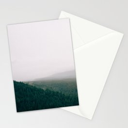 Landscape Mountain Forest with Fog Stationery Cards