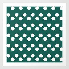 Palo Alto Polka Dots Art Print