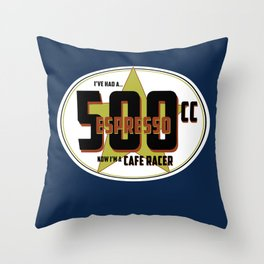 SRC Preparations Racecar Rebels: Cafe Racer Throw Pillow