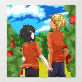 Solangelo Strawberry fields Canvas Print