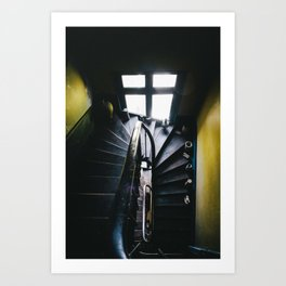 Yellow Stairs Art Print