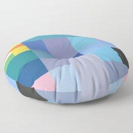 Blue Checker Pattern Floor Pillow