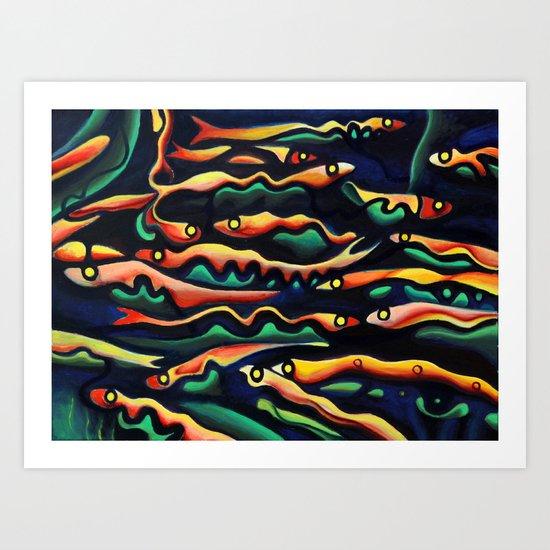 Eyes of the Fish Art Print