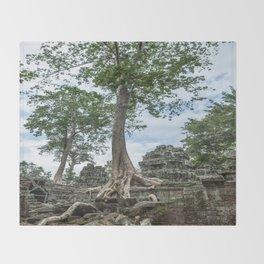 Ta Phrom, Angkor Archaeological Park, Siem Reap, Cambodia Throw Blanket