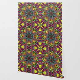 Crazy colors 3D mandala Wallpaper