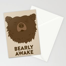 BEARLY AWAKE Stationery Cards