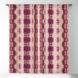 Shades of Red Shibori Blackout Curtain