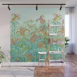 paisley garden Wall Mural