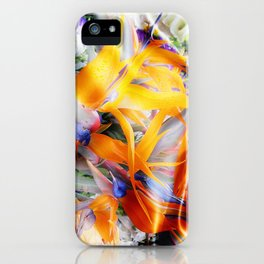 Fantasy Bird of Paradise by Artist McKenzie (www.McKenzieartstudio.com) iPhone Case