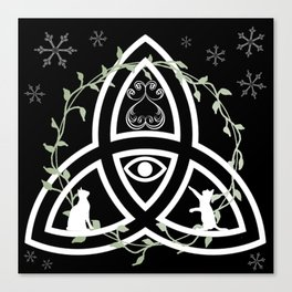 Celtic Knot, Evil Eye, and Cats Canvas Print
