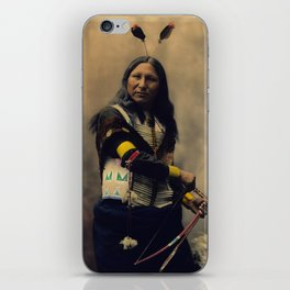 Shout At, Oglala Sioux, by Heyn Photo, 1899 iPhone Skin