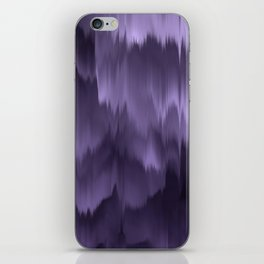 Purple and black. Abstract. iPhone Skin