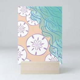 Sand Dollar on a Summer Ocean Beach Mini Art Print