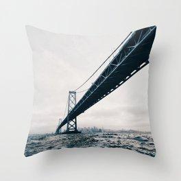 Under the Bay Bridge Throw Pillow