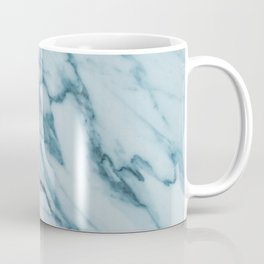 Streaked Teal Blue White Marble Coffee Mug
