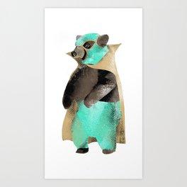 Luchador Bear Art Print