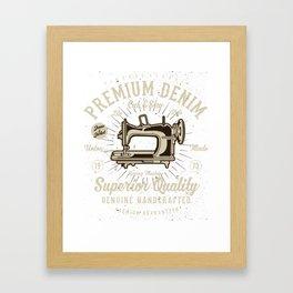 Vintage Classic Premium Denim Cut & Sew Framed Art Print