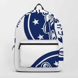 American Professional Cleaner USA Flag Icon Backpack