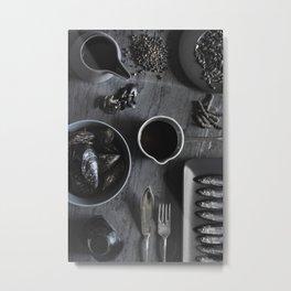 Black - the colors of food Metal Print
