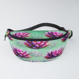 Waterlily Pattern. Lotus Pattern Fanny Pack