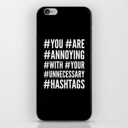 HASHTAGS (Black) iPhone Skin
