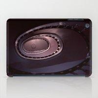 denmark iPad Cases featuring Looking Up - Spiral Staircase, Copenhagen, Denmark by David Hohmann