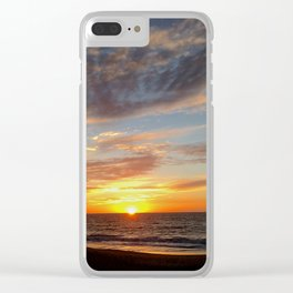 West Oz Sunset Clear iPhone Case