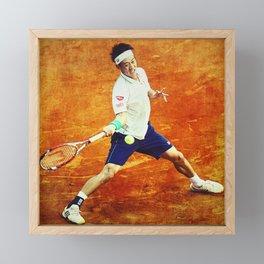 Kei Nishikori Tennis Framed Mini Art Print