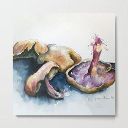 mushrooms watercolor painting by Jeanie Eismont Metal Print
