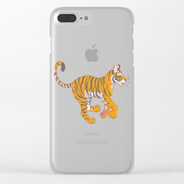 Running Bengal Tiger Clear iPhone Case