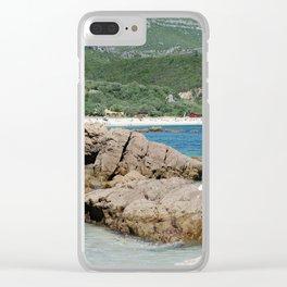 Arrabida beach, Portugal Clear iPhone Case