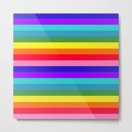 Stripes of Rainbow Colors Metal Print