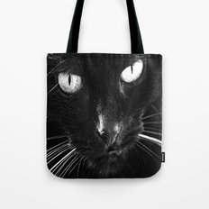 Chilly the Black Cat Tote Bag