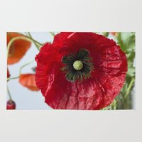 poppy Area & Throw Rugs featuring Poppy by Maria Heyens