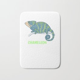 You're One In A Chameleon Cute Chameleon Pun Bath Mat